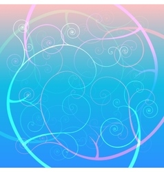 Abstract beautiful blue floral background vector image vector image