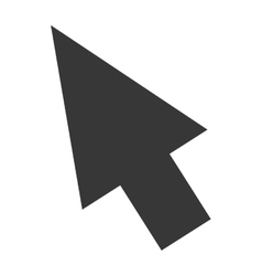 arrow icon flat symbol vector image