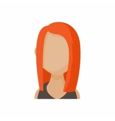 Avatar redhead woman icon cartoon style vector image