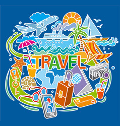 concept doodle for travel vector image vector image