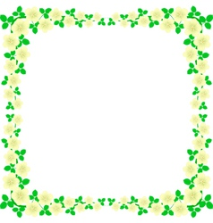 flowers frame vector image