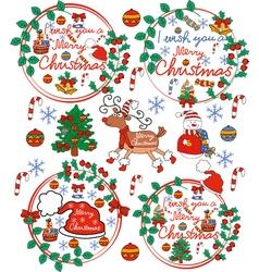 Greeting card Christmas card with Santa Claus vector image