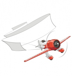 retro airplane with blank banner vector image