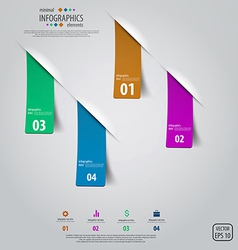 Tags infographics design vector