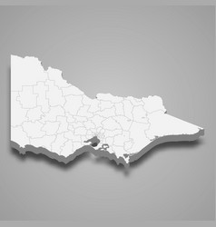 3d map state australia vector