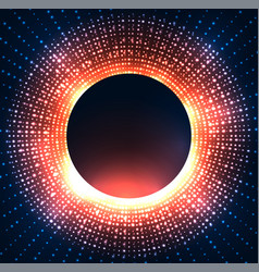 a black hole with bright sparkles vector image