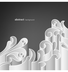 Abstract paper forms vector image