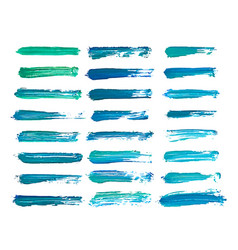 abstract watercolor blue brush strokes isolated vector image