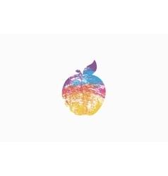 Apple Rainbow apple Colorful logo Company logo vector image