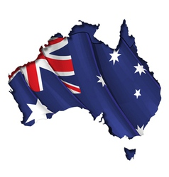 Australian Map Flag vector image