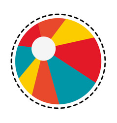 beach ball icon image vector image