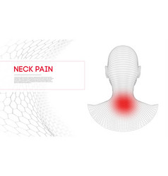 beautiful woman suffering from neck pain medical vector image