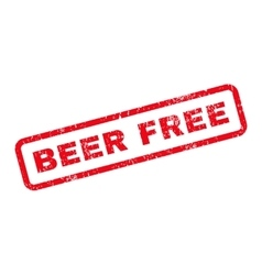Beer Free Text Rubber Stamp vector
