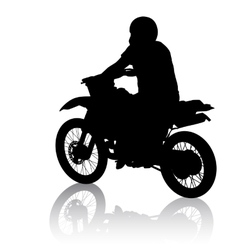 Black silhouettes sport bike on white background vector image