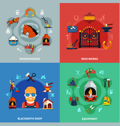 blacksmith design concept set vector image