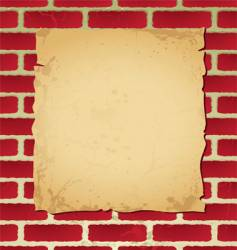 brickwall parchment vector image