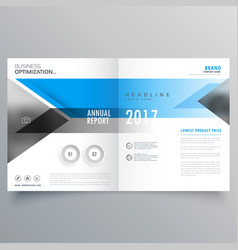brochure template layout booklet cover design vector image