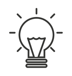 bulb light isolated icon design vector image vector image
