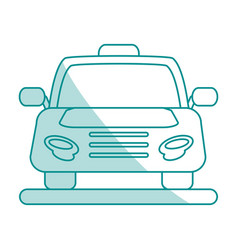Cab flat shadow vector