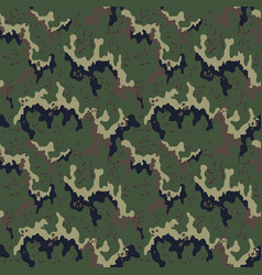 camouflage pattern military print seamless vector image