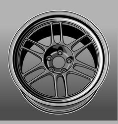 Car wheel color 1 vector