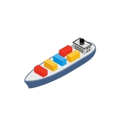 Cargo ship icon isometric 3d style vector image