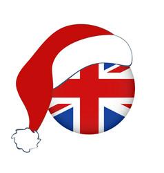 Christmas icon flag england vector