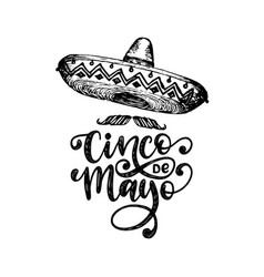 cinco de mayo hand lettering translation from vector image