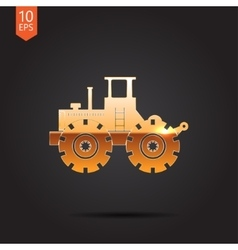 color flat heavy machine icon vector image