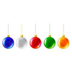 colored christmas balls vector image
