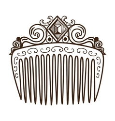 Comb with decorations vector image