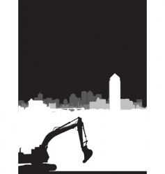 construction brochure vector image vector image