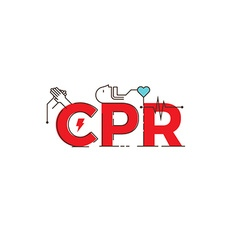 CPR word design vector image