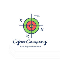 cyber company target logo with white background vector image