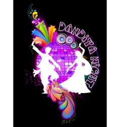 Dandiya Night vector image