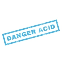 Danger Acid Rubber Stamp vector