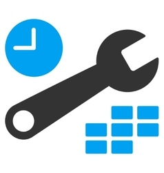 Date And Time Configuration Icon vector