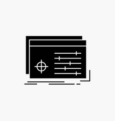 file object processing settings software glyph vector image
