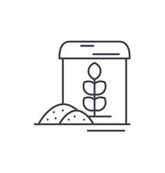 flour line icon concept flour linear vector image