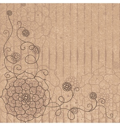 Flower pattern on cardboard vector image