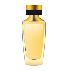 gold perfume bottle mockup realistic style vector image