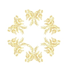 Golden floral pattern Ornate design in gold vector image