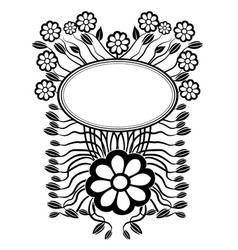 Graphic element flowers and frame 4 vector