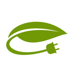 Green electricity icon vector