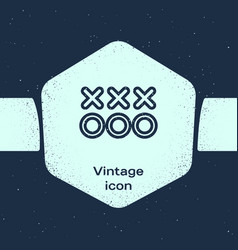 Grunge line planning strategy concept icon vector