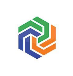 Hexagon abstract logo vector