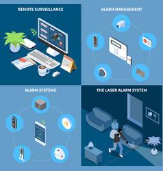 Home security 2x2 design concept vector