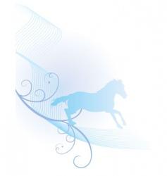 horse spirit vector image