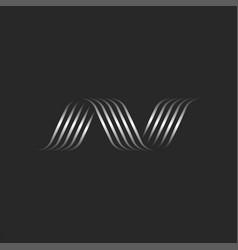 Initial letter n logo modern creative monogram vector