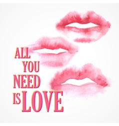 inscription All You need is Love poster vector image
